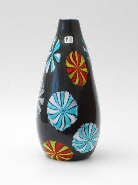 """Rare """"Nerox Stellato"""" Vase By Pollio Perelda"""