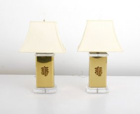 Pair Of Lamps By James Mont