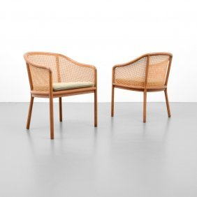Pair Of Ward Bennett Arm Chairs
