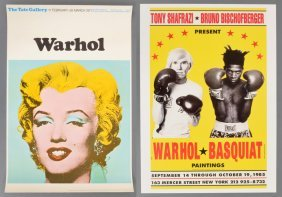 2 Andy Warhol Exhibition Posters