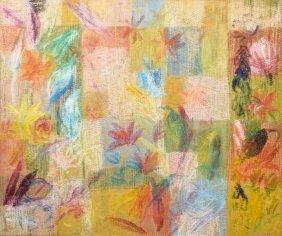 Large Hunt Slonem Painting, Original Work