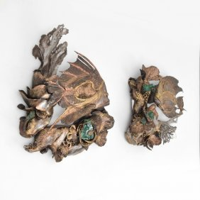 Pair Of Large Jacques Duval-brasseur Wall Sculptures