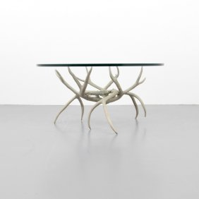 Arthur Court Antler Form Coffee Table