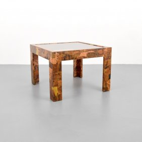Patchwork Occasional Table, Manner Of Paul Evans
