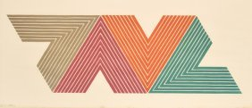Frank Stella Lithograph, Signed Limited Edition