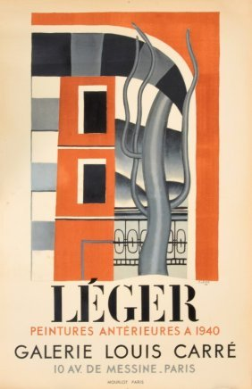 Rare & Oversized Fernand Leger Exhibition Poster