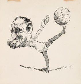 David Levine Drawing, Original Work