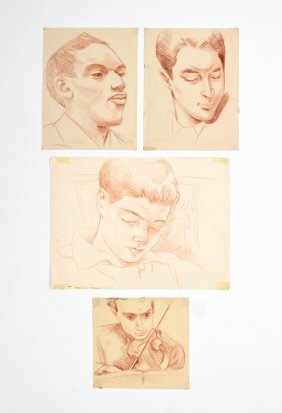 4 Peter Samuelson Drawings, Original Works