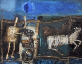 Large James Coignard Painting, Original Work