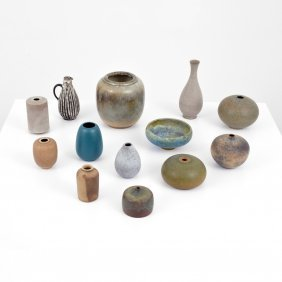 Collection Of Pottery Vases/vessels, 13 Pieces