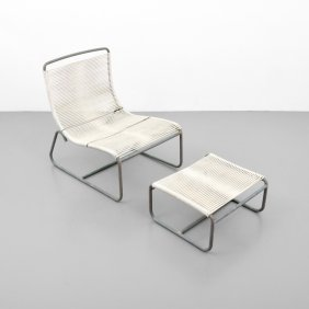 Walter Lamb Sleigh Lounge Chair & Ottoman