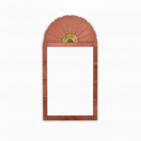Large Sarreid Ltd. Leather Mirror