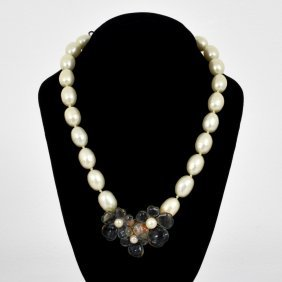 Chanel Faux Pearl & Gripoix Necklace