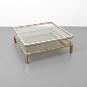 Italian Coffee Table, Manner Of Willy Rizzo
