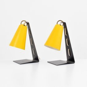 Pair Of Lamps, Manner Of Charlotte Perriand