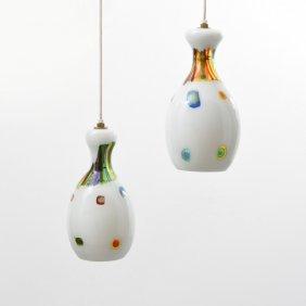 Pair Of Anzolo Fuga Hanging Lamps