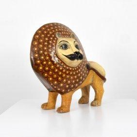 Large Lion Sculpture, Manner Of Sergio Bustamante