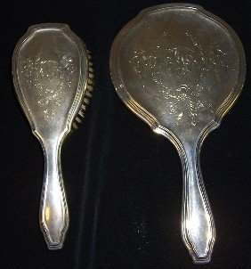 Sterling 2 Piece Dressing Set.