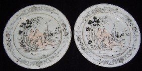Pair Of 19th Century Chinese Export Plates.