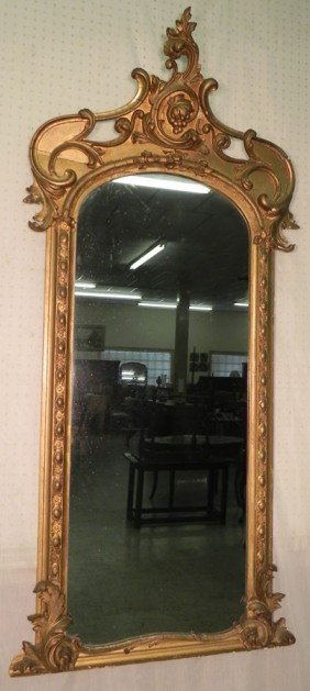 Gold Leaf French Victorian Mirror.