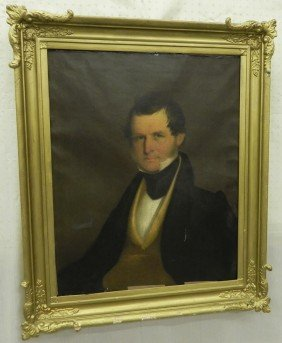 19th Century Oil Painting Of Gentleman.