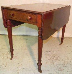 19th C Sheraton Pembroke Mahogany Table.