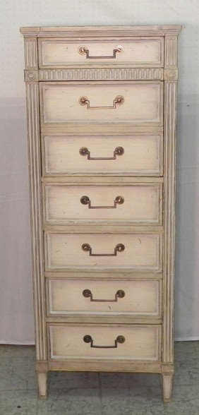 Seven Drawer Painted Lingerie Chest By Baker.