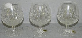 (3) Pieces Of  Waterford Crystal Stemware.