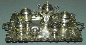Miniature  Sterling Silver Tea Set.