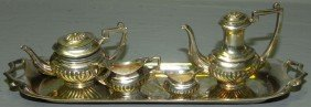Miniature English Sterling Tea Set.