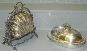 English Silver Covered Dish And Bun Warmer.