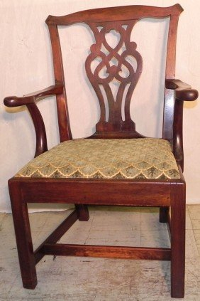 18th Century Mahogany Chippendale Arm Chair