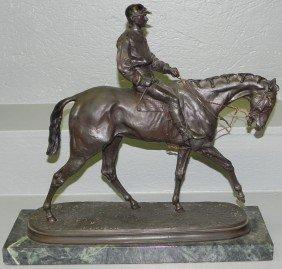 Bronze Figurine/statue Signed P.J. Mene