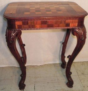 French Rose Wood Chess Table.