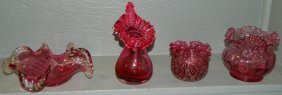 (4) Pieces Of Art Glass