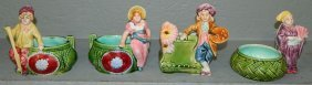 4 Majolica Figural Planters.