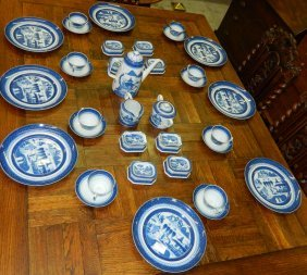 35 Pcs Mottahedeh Dessert Set Warsaw Estate.