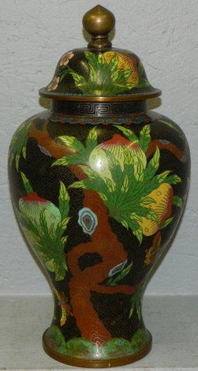 Large Cloisonne Covered Urn.