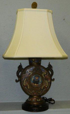 Champleve Lamp.