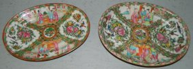 2 Rose Medallion Oval Platters.