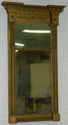 19th C. Gilt Wood Federal Wall Mirror.