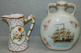 Oriental Porcelain Vase And French Pitcher.