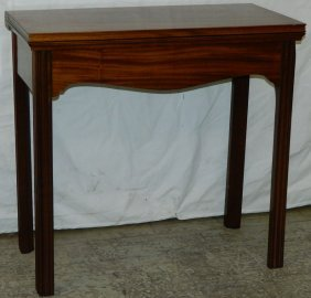 19th C. Mahogany Fold Over Game Table.