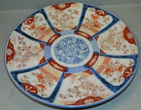 Signed 19th C. Large Imari Charger.