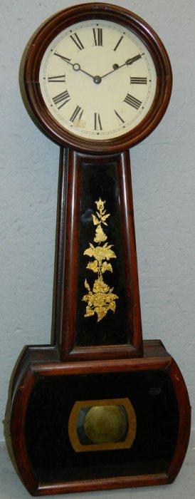 19th C. American Rosewood Banjo Clock.