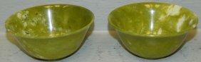 2 Chinese Jade Bowls.