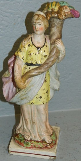 18th C English Pearl Ware Figure.