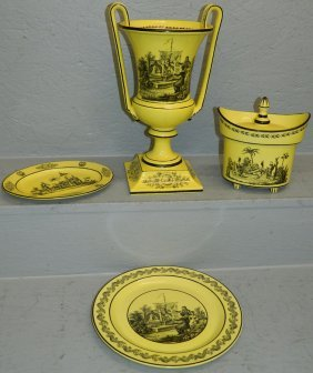 """4 Pc Mottahedeh Lot. To 13 3/4"""" Tall."""