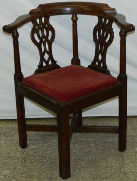 "19th C. English Corner Chair. 32"" Tall."