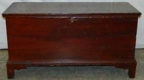 19th C American Pine Dovetail Blanket Box